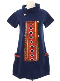 1970's Womens Denim Hippie Dress