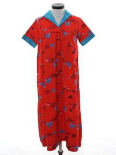 1960's Womens Hawaiian Muu Muu Dress