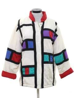 1980's Womens Totally 80s Hip Hop Style Jacket