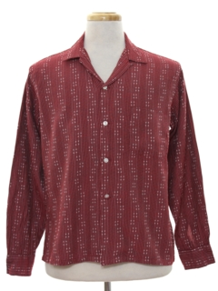 1950's Mens Mod Sport Shirt