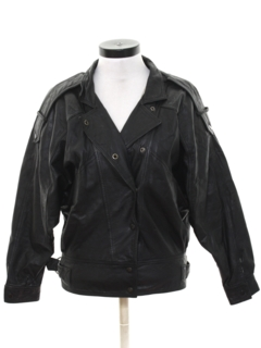 1980's Womens Totally 80s Leather Jacket