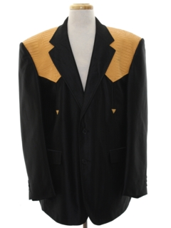 1990's Mens Western Leather Blazer Sport Coat Jacket