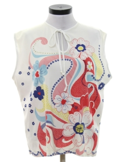 1960's Womens Mod Pow-Flower Shirt