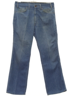 1970's Mens Flared Leg Denim Jeans Pants