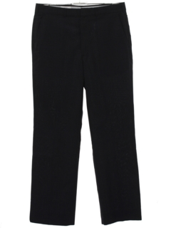 1980's Mens Flared Flat Front Slacks Pants