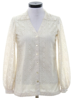 1970's Womens Lace Shirt
