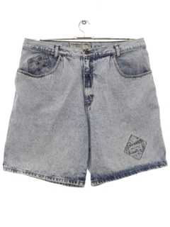 1980's Mens Totally 80s Acid Washed Denim Shorts