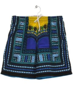 1970's Mens Hippie Dashiki Shorts