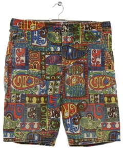 1960's Mens Mod Board Shorts