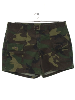 1980's Mens Camo Army Shorts