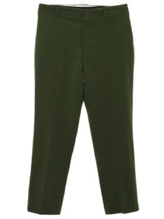 1950's Mens Mod Flat Front Slacks Pants