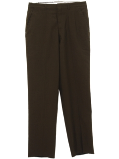 1960's Mens Mod Flat Front Slacks Pants