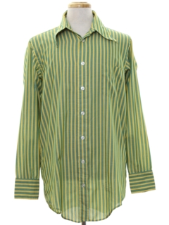 1960's Mens Mod Striped Shirt