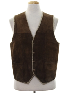 1960's Mens Leather Vest