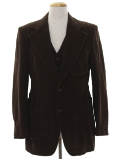1970's Mens Disco Blazer Sportcoat Jacket and Vest