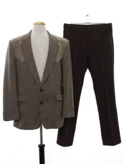 1980's Mens Combo Western Suit