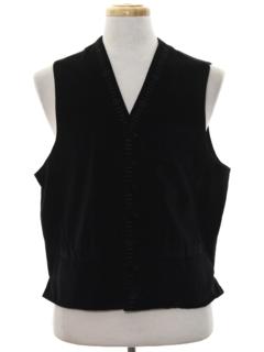 1990's Mens Formal Tuxedo Style Vest