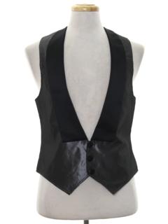 1980's Mens Formal Tuxedo Style Vest