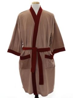 1970's Mens Mod Velour Robe