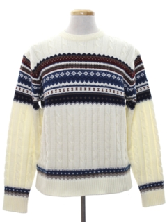 1980's Mens Ski Sweater
