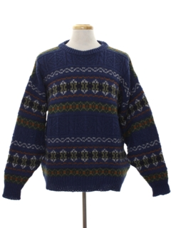 1980's Mens Wool Pullover Sweater