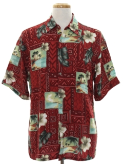 1990's Mens Hawaiian Inspired Shirt