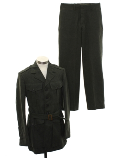 1950's Mens Military Uniform Suit