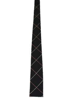 1960's Mens Flat Bottom Skinny Rockabilly Necktie