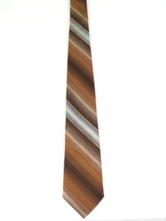 1960's Mens Diagonal Striped Necktie