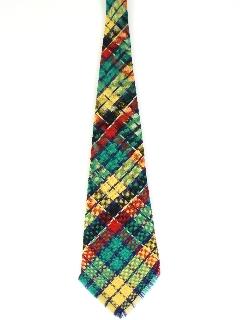 170's Mens Mod Wool Fringed Necktie