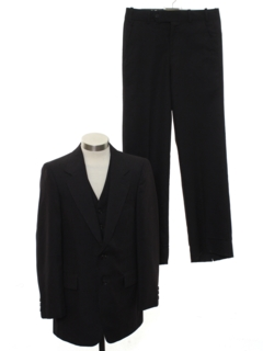 1970's Mens Three Piece Pinstriped Suit