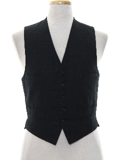 1960's Mens Wool Suit Vest
