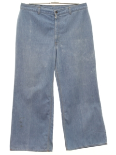 1970's Womens Wide Leg Bellbottom Denim Jeans Pants