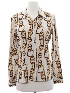1990's Womens Mod Designer Shirt