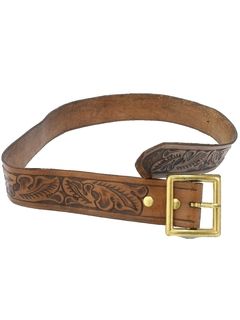 1980's Mens Accessories - Hippie Leather Western Belt