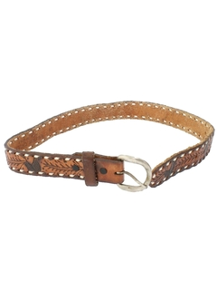 1980's Mens/Boys Accessories - Hippie Western Leather Belt