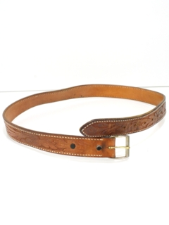 1980's Mens Accessories - Hippie Western Leather Belt