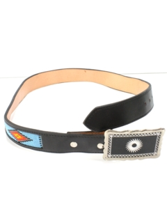 1990's Mens Accessories - Native American Beaded Belt