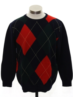 1980's Mens Totally 80s Preppy Wool Sweater