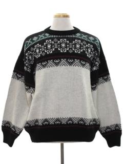1980's Mens Nordic Style Ski Sweater