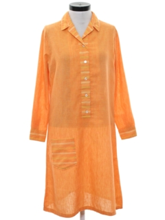 1960's Womens Mod Shift Dress