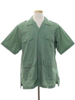 1980's Mens Safari Sport Shirt