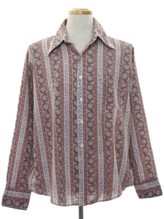 1960's Mens Hippie Style Print Shirt