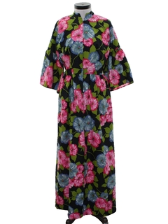 1960's Womens Hippie Lounge Dress