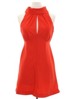 1960's Womens Mini Mod Knit Go Go Style Dress