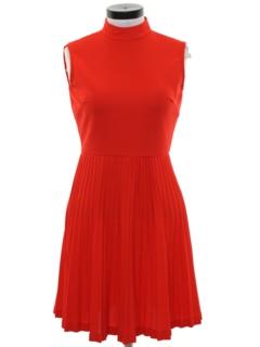1960's Womens Mod Knit Dress