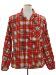 1960's Mens Flannel Sport Shirt
