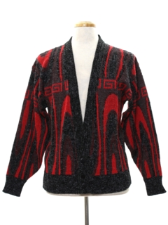 1980's Mens Cardigan Cosby Sweater