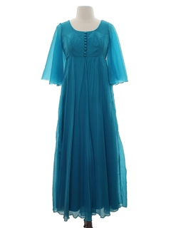 1970's Womens Maxi Prom Or Cocktail Maxi Dress