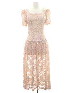 1980's Womens Totally 80s Prom Or Cocktai Maxil Dress